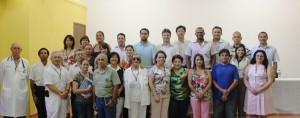 Integrantes do Conselho Técnico, DRS-XII, CONSAÚDE  e demais participantes , durante foto oficial.