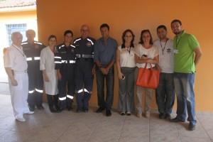 Equipe da SES e CONSAÚDE, durante visita as instalações do SAMU Vale do Ribeira e Central de Regulação.