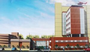 Projeção do novo Hospital  Regional de Itanhaém.