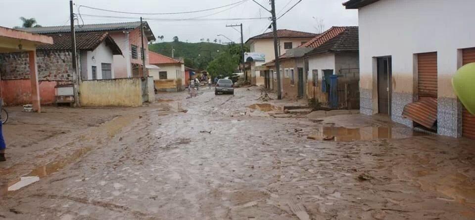 Itaóca foi atingida por enchente dia 12 de janeiro. (foto: divulgação)